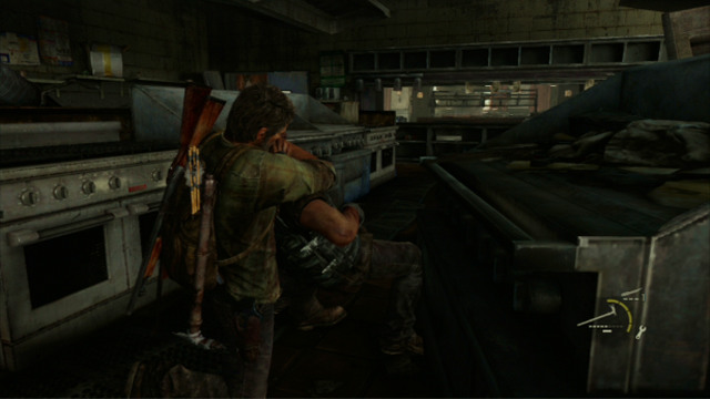After the thug dies, his companion will come over to check out on him - Hotel Lobby (text & maps) - Pittsburgh - The Last of Us - Game Guide and Walkthrough