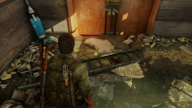 As soon as all of the enemies drop dead, you will have to find a ladder - Hotel Lobby (text & maps) - Pittsburgh - The Last of Us - Game Guide and Walkthrough