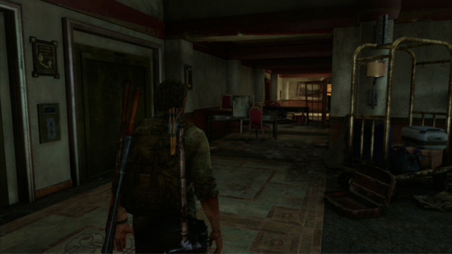 Jump down and run ahead - Hotel Lobby (text & maps) - Pittsburgh - The Last of Us - Game Guide and Walkthrough
