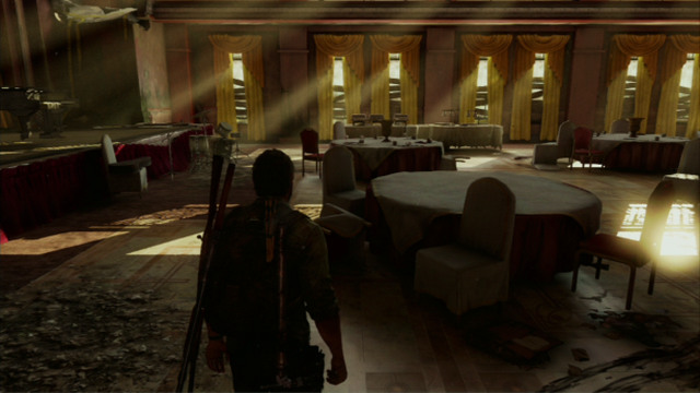 At the end, there is a ballroom with a grand piano in it - Hotel Lobby (text & maps) - Pittsburgh - The Last of Us - Game Guide and Walkthrough