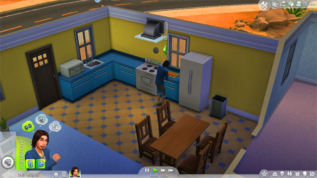 One of the key rooms is the kitchen, initially combined with the dining room - Furnishing a house - The house - The Sims 4 - Game Guide and Walkthrough