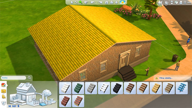 Expanding a house the house the sims 4 game guide for Another word for floor