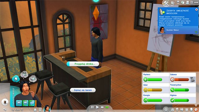 You will become a Head Dishwasher (2) and you will have to learn the Mixologist skill - Culinary | Career tracks - Careers / jobs tracks - The Sims 4 Game Guide