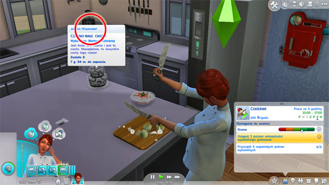 If you will choose the Chef (A) branch you will become a Head Caterer (6 A) - Culinary | Career tracks - Careers / jobs tracks - The Sims 4 Game Guide