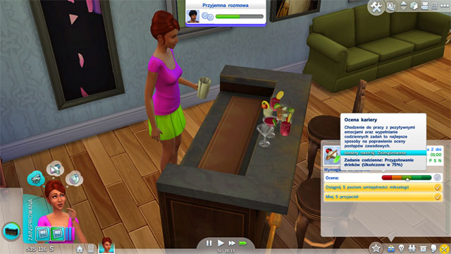 If you will choose the Mixologist (B) branch you have to remember that you will have a terrible income and you will have a challenging way to the top - Culinary | Career tracks - Careers / jobs tracks - The Sims 4 Game Guide