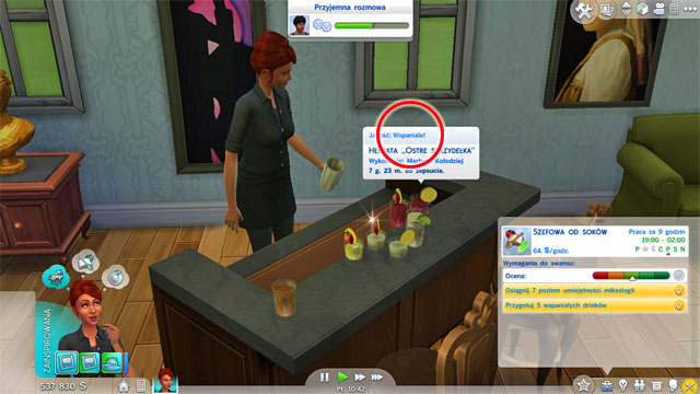 You will become a Juice Boss (7 B) - Culinary | Career tracks - Careers / jobs tracks - The Sims 4 Game Guide