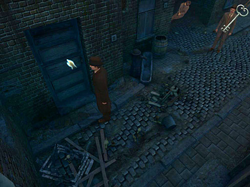 Go to the very end, and open the last door with a key found in the chest from lovers grave - Visit Kurtz - Slaughter in Whitechapel - The Testament of Sherlock Holmes - Game Guide and Walkthrough