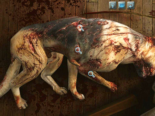 Examine also terribly crippled dog: his right front leg and two trunks wounds - Visit Kurtz - Slaughter in Whitechapel - The Testament of Sherlock Holmes - Game Guide and Walkthrough