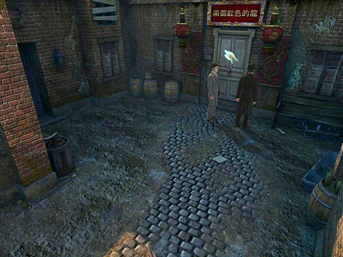 March forward and turn right on a crossroad - Get to the Closed Room - Slaughter in Whitechapel - The Testament of Sherlock Holmes - Game Guide and Walkthrough