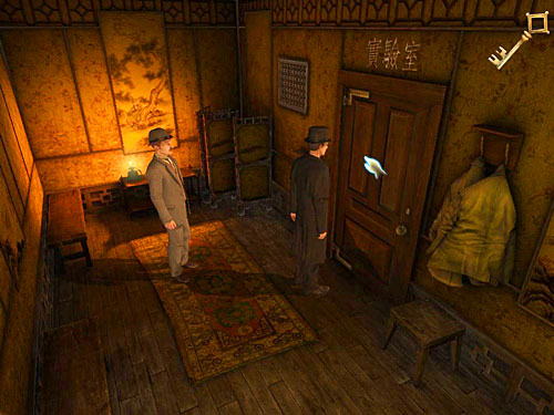 Go to the end of den and open closed door with chinese signs - Get to the Closed Room - Slaughter in Whitechapel - The Testament of Sherlock Holmes - Game Guide and Walkthrough