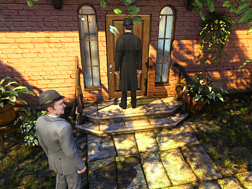Leave a garden and knock at the front door to inform a housemaid that youve found a laundry - Find Stolen Laundry - Robbery in Kensington Gardens - The Testament of Sherlock Holmes - Game Guide and Walkthrough