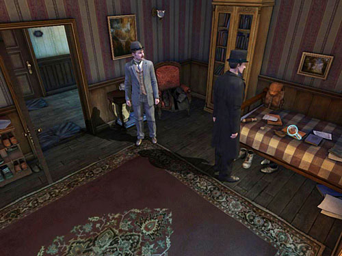 Notice a mess on the bed - Search a Henrys Room - Robbery in Kensington Gardens - The Testament of Sherlock Holmes - Game Guide and Walkthrough