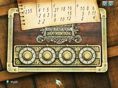 So set those numbers on dials: 8, 1, 4, 3 - Search a Henrys Room - Robbery in Kensington Gardens - The Testament of Sherlock Holmes - Game Guide and Walkthrough