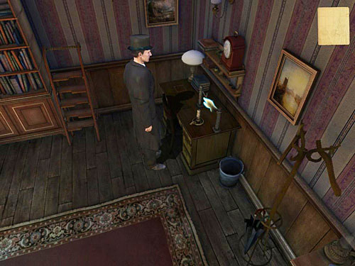 After completing the paper, use a clothes pegs at weird thing on a desk and hand a blank paper on it - Search a Henrys Room - Robbery in Kensington Gardens - The Testament of Sherlock Holmes - Game Guide and Walkthrough