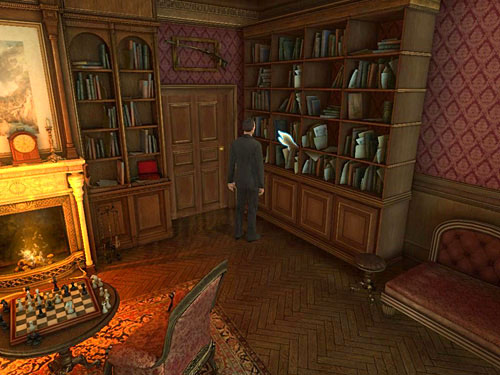 Go to the bookshelf on the right and take a judges register - Identify the Mysterious Visitor - O. Farleys Office - The Testament of Sherlock Holmes - Game Guide and Walkthrough