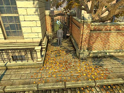 Go up the street and turn to gate leading on a houses backs - Get to the Judges House - Explosion in Becketts Residence - The Testament of Sherlock Holmes - Game Guide and Walkthrough