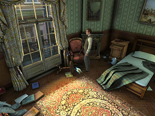Take boots from under the armchair, - Complete Three Disguises - Hideout in Whitechapel - The Testament of Sherlock Holmes - Game Guide and Walkthrough