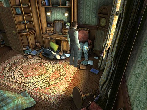 trousers from the other armchair - Complete Three Disguises - Hideout in Whitechapel - The Testament of Sherlock Holmes - Game Guide and Walkthrough