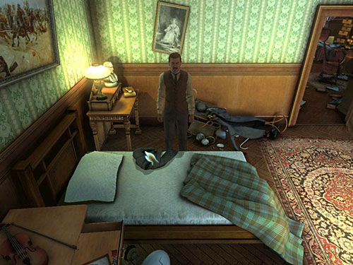 jacket from a bed, - Complete Three Disguises - Hideout in Whitechapel - The Testament of Sherlock Holmes - Game Guide and Walkthrough