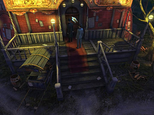 Climb up and enter a red building on the other side of round square - Find Anarchists - A Grand Final in the Fun Fair - The Testament of Sherlock Holmes - Game Guide and Walkthrough