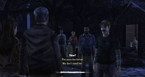 When the night falls, everyone will gather outside - Chapter 4: Bedside Manor - Episode IV: Around Every Corner - The Walking Dead - Game Guide and Walkthrough