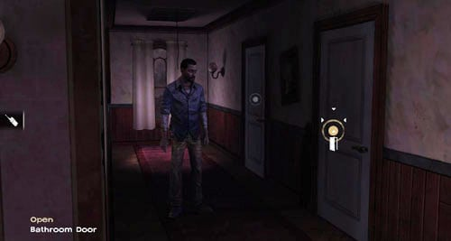 Now go into the corridor in the background of the screen, to the right of the study - Chapter 4: Bedside Manor - Episode IV: Around Every Corner - The Walking Dead - Game Guide and Walkthrough