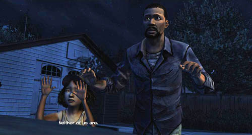 You have to give a reply to the police officer if you want to make the story go forward - Chapter 3: In Your Charge - Episode I: A New Day - The Walking Dead - Game Guide and Walkthrough