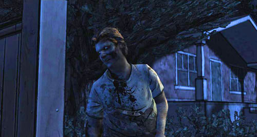 The further conversation will be taken over by Chet, who both Shawn and police officer are looking for - Chapter 3: In Your Charge - Episode I: A New Day - The Walking Dead - Game Guide and Walkthrough