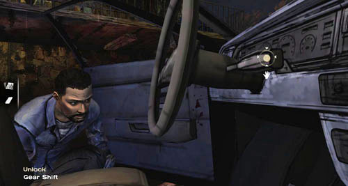 Open the truck Door, by which the characters are hiding - Chapter 5: Its Just One Bullet - The Motor Inn - Episode I: A New Day - The Walking Dead - Game Guide and Walkthrough