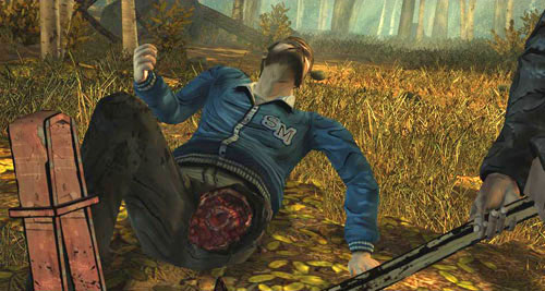 However, if you decide to cut David's leg off, you'll have to use your axe four times to chop off the Leg - Chapter 1: Going Hungry - Episode II: Starved for Help - The Walking Dead - Game Guide and Walkthrough