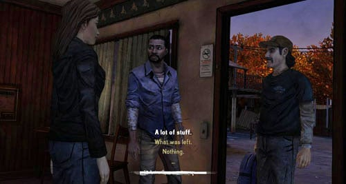 When Kenny and Lee reach the motor inn, a conversation will develop - Chapter 2: Bad Blood - Episode III: Long Road Ahead - The Walking Dead - Game Guide and Walkthrough