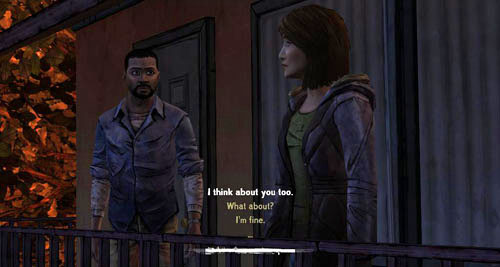 The conversation will start automatically - Chapter 2: Bad Blood - Episode III: Long Road Ahead - The Walking Dead - Game Guide and Walkthrough