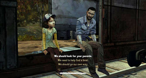 What you will do when you get to Savannah: Clementine will ask you the first question - Chapter 5: Handle It - Speaking with Clementine - Episode III: Long Road Ahead - The Walking Dead - Game Guide and Walkthrough