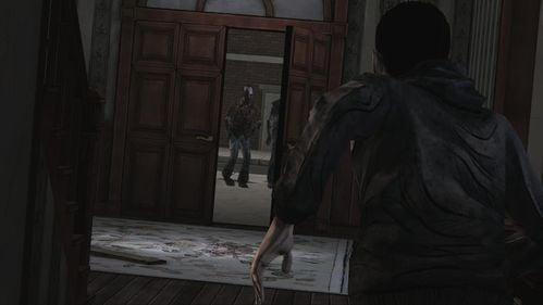 The reason is simple - a front door is open - Chapter 2: Siege - Episode V: No Time Left - The Walking Dead - Game Guide and Walkthrough