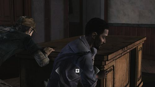 Help Kenny to push the Desk and then quickly keep pressing proper keys shown on the screen - Chapter 2: Siege - Episode V: No Time Left - The Walking Dead - Game Guide and Walkthrough