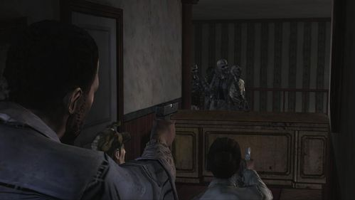 The group shelters in a corridor where after a while zombies will appear - Chapter 2: Siege - Episode V: No Time Left - The Walking Dead - Game Guide and Walkthrough