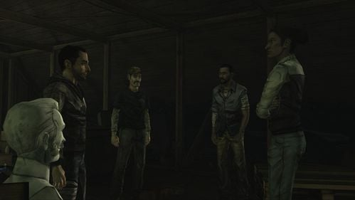 The group is in a sticky situation - they are on the attic, without possibility of leaving it - Chapter 3: Trapped - Episode V: No Time Left - The Walking Dead - Game Guide and Walkthrough