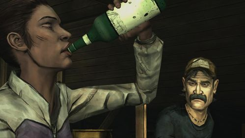 Kenny decides to make a toast and give you a bottle - Chapter 3: Trapped - Episode V: No Time Left - The Walking Dead - Game Guide and Walkthrough