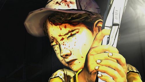 The girl raise a gun and fires with tears in her eyes (after a while we hear Lee's last breath) - Chapter 7: Goodbye - Episode V: No Time Left - The Walking Dead - Game Guide and Walkthrough