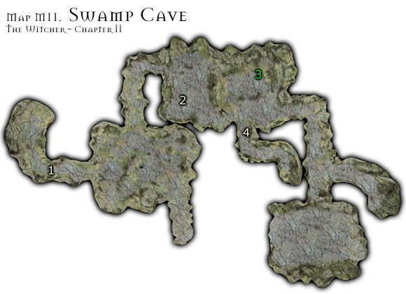 1 - Map M11 - Swamp Cave | Walkthrough - Maps | Chapter II - The Witcher Game Guide & Walkthrough