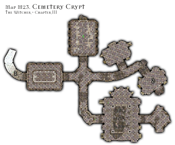 1 - Map M23 - Vizimas Cemetery Crypt | Walkthrough - Maps | Chapter III - The Witcher Game Guide & Walkthrough