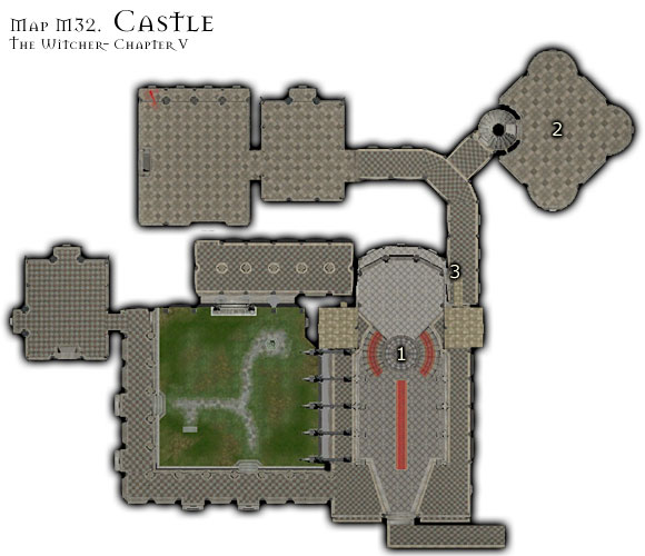 You can meditate inside the castle - just talk to the Chamberlain - Map M32 - Castle | Walkthrough - Maps | Chapter V - The Witcher Game Guide & Walkthrough