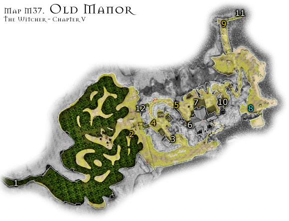 1 - Map M37 - Old Manor | Walkthrough - Maps | Chapter V - The Witcher Game Guide & Walkthrough
