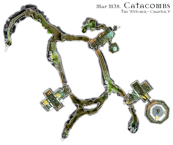 Remember to use strong style to fight Greater Mutants and fast style for any other type of enemy here - Map M38 - Catacombs | Walkthrough - Maps | Chapter V - The Witcher Game Guide & Walkthrough