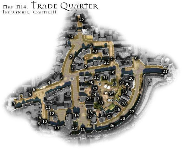 1 - Map M14 - Trade Quarter | Walkthrough - Maps | Chapter III - The Witcher Game Guide & Walkthrough