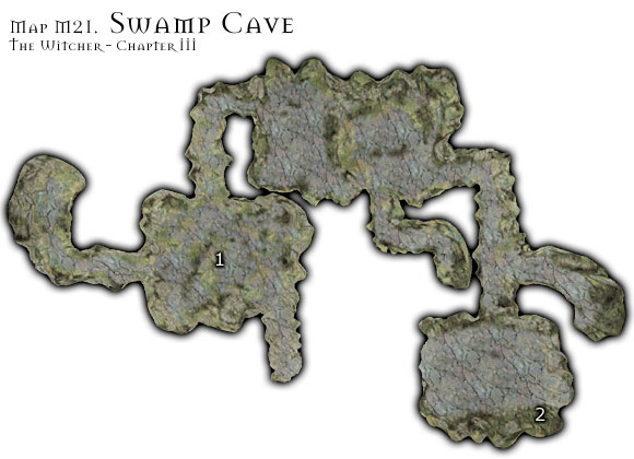 1 - Map M21 - Swamp Cave | Walkthrough - Maps | Chapter III - The Witcher Game Guide & Walkthrough