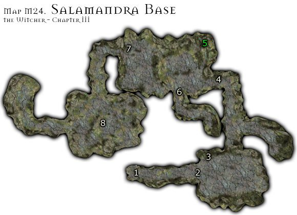 1 - Map M24 - Salamandra Base | Walkthrough - Maps | Chapter III - The Witcher Game Guide & Walkthrough