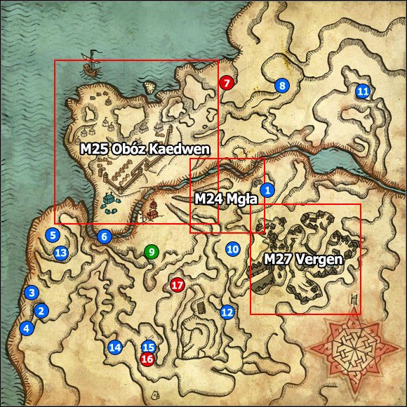 1 - M23 Pontar Valley; M24 Mist - Maps - The Witcher 2: Assassins of Kings Game Guide