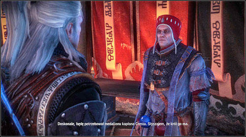 When you ask Zyvik about the details of the war, you will learn of Crests medallion - its worth to deep digger into the matter and learn the details of its further fate - Faith Symbolized | Roche - Main missions - The Witcher 2: Assassins of Kings Game Guide