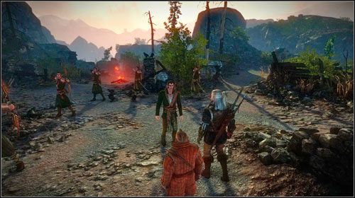 On your way to the city, you will come across a Scoia'tael squad at the burned village (M23, 10) - The Blood Curse (steps 8-17) - Main missions - The Witcher 2: Assassins of Kings - Game Guide and Walkthrough